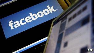 Facebook logo displayed on a computer screen