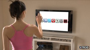 Gesture-controlled TV