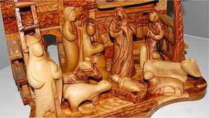 Nativity set made by Joseph Lulos