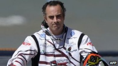 Jorge Martinez Boero at the start of the Dakar rally, 31 December