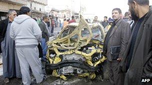 The scene of one of the blasts in Kadhimiya