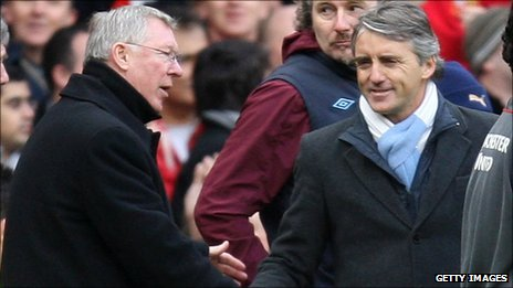 Sir Alex Ferguson and Roberto Mancini