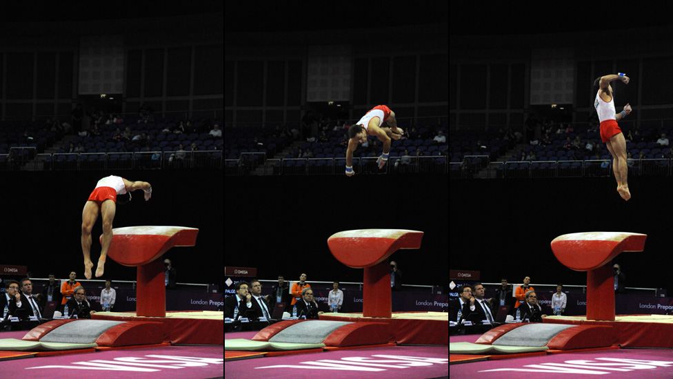 Vaulting horse as seen in London 2012 games. Image credit -BBC.co.uk