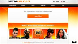 Megaupload screenshot