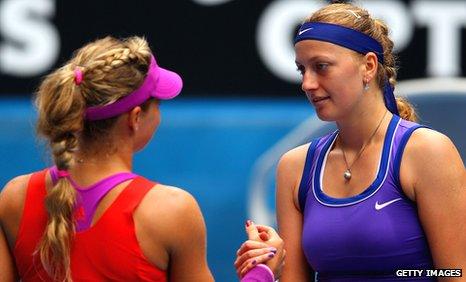 Petra Kvitova and Maria Kirilenko