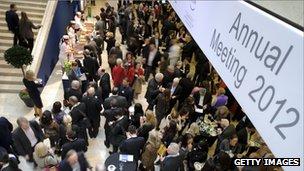 Davos delegates 2012