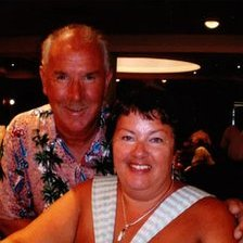 Peter Rippington, who was killed in the coach crash, and his wife, Sharon