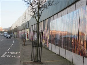Peace barriers were mainly erected at sectarian flash-points