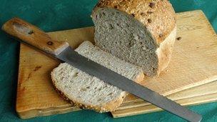Bread contains chia