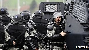 Macedonia riot police, 13 Apr 12