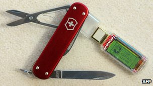 Open Swiss Army Knife showing some of its functions