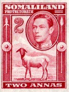 George VI on stamp