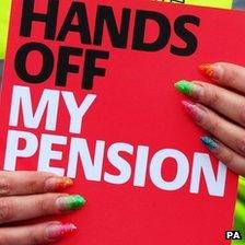 Pension protester