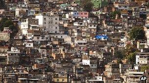 The Rocinha shantytown in Rio de Janeiro, Brazil