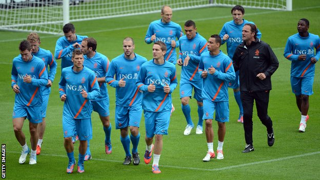 Netherlands team training in Krakow