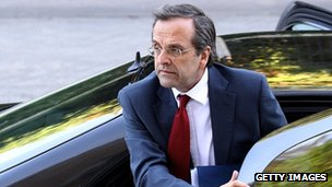 New Democracy leader Antonis Samaras, 18 June