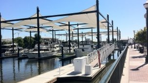 The marina in Stockton, California