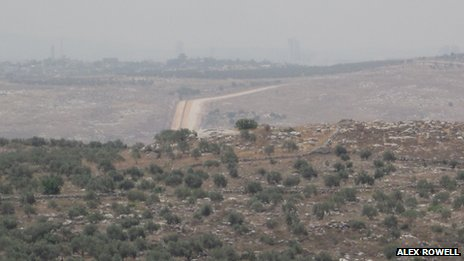Green Line dividing Israel and the West Bank