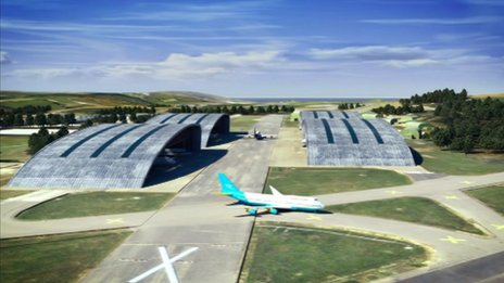 Companies choosing to develop at the Aerohub will be offered tax breaks and planning regulations will be be eased.