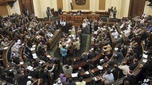 Egypt parliament meets in brief session 10 July 2012