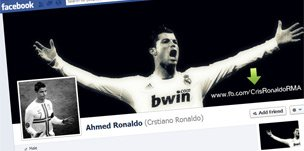 Screenshot of Ahmed Ronaldo's Facebook page
