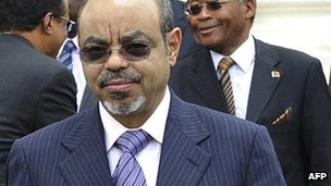 Meles Zenawi in March 2012