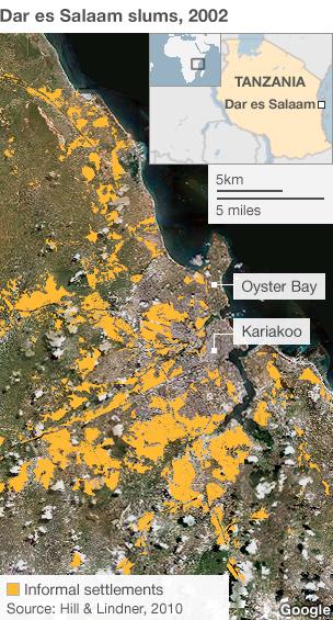 Dar es Salaam map