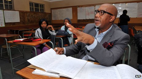 "Sipho ""Hotstix"" Mabuse at school (22 July 2012)"