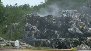 The waste at the site in Oswaldtwistle