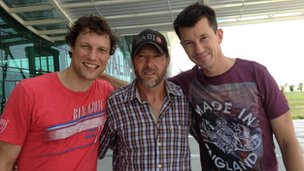 Jeroen Oerlemans (left), Shane Bell from the New York Times and John Cantlie