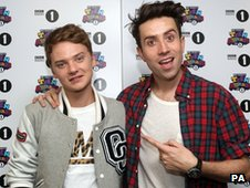 Conor Maynard and Nick Grimshaw