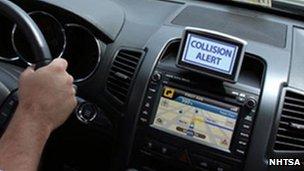 Collision alert graphic