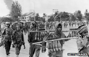 Khmer Rouge soldiers, Phnom Penh, 1975