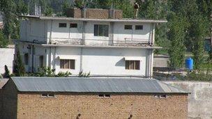 The compound in Abbottabad in north-west Pakistan where Bin Laden was shot dead