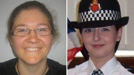 PC Fiona Bone (left) and PC Nicola Hughes were killed in the attack