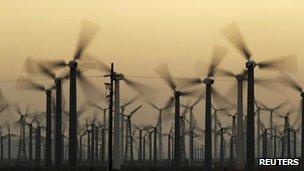 California wind farm, file picture