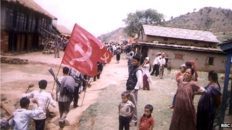 Generic Maoist rebel photos from the remote area of western Nepal, 2004.