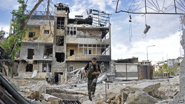 Rebel fighter in Aleppo
