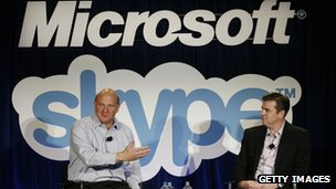 Microsoft acquired the Skype video chat service in 2011. Photo courtesy of BBC website