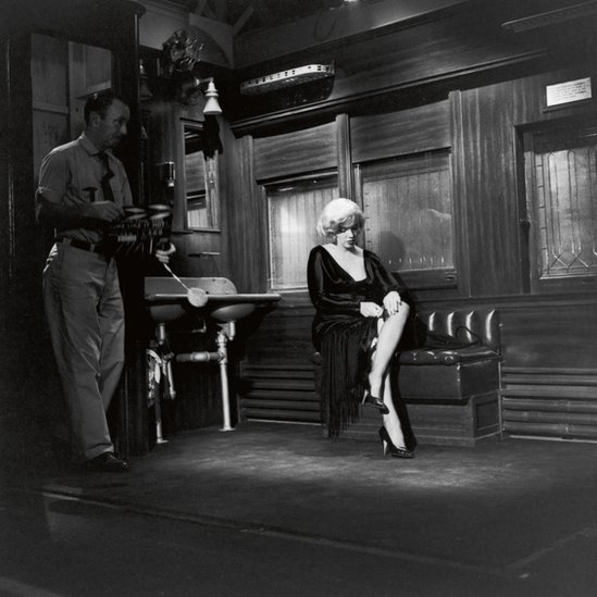 Marilyn Monrow on the set of Billy Wilder's Some Like it Hot, United Artists, 1958