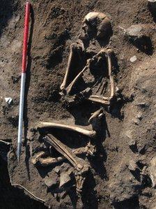 Skeleton found at Llanbedrgoch, Anglesey