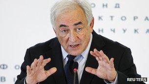 Dominique Strauss-Kahn in Kiev, 4 April 2012
