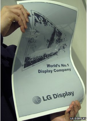 LG Displays, flexible display prototype