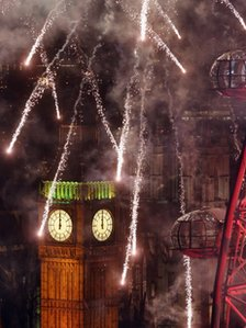 London 2013 fireworks