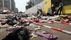 Scene of stampede in Abidjan, Ivory Coast, on 1/1/13