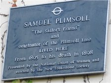 Blue plaque to Samuel Plimsoll