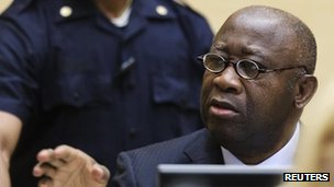 Laurent Gbagbo at his pre-trial hearing in The Hague. Photo: 19 February 2013