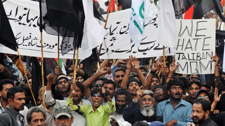 March against Taliban in Karachi - 2009