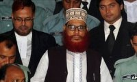 Jamaat-e-Islami leader Delawar Hossain Sayedee (C) in Dhaka in August 2011