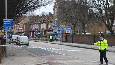 The scene in Tottenham